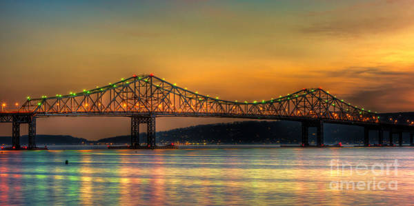 Photograph - Tappan Zee Bridge Twilight Iv Panoramic by Clarence Holmes