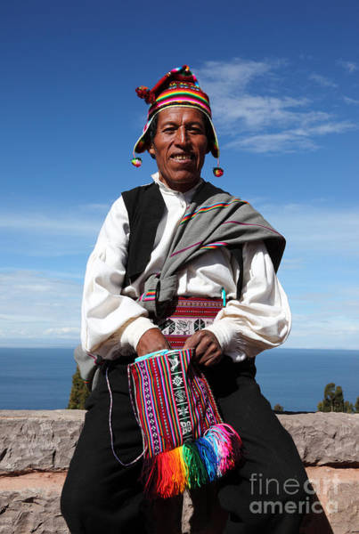 Photograph - Taquile Islander by James Brunker