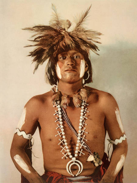 Photograph - Taqul, A Moki Snake Priest by William Henry Jackson
