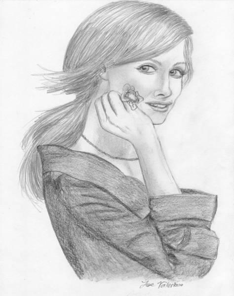 Drawing - Tara Subkoff by M Valeriano