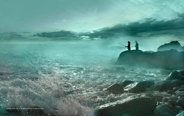 Tarde De Pesca Art Print