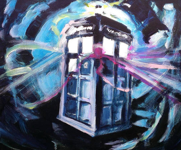 Bbc Painting - Tardis In Flight by Paul Mitchell