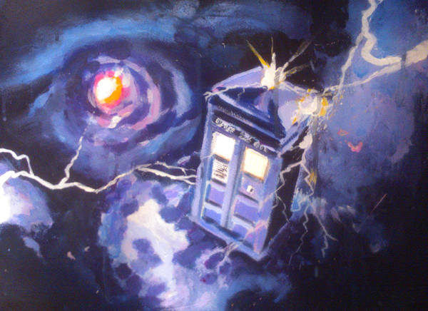 Bbc Painting - Tardis In Space by Paul Mitchell