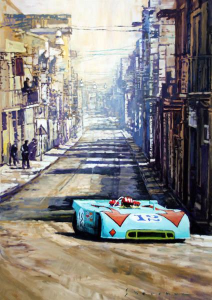 Sports Car Painting - Targa Florio 1970  Porsche 908 Siffert by Yuriy Shevchuk