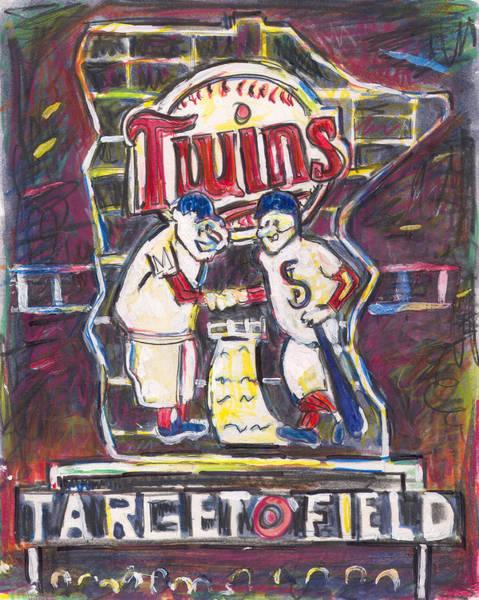 Minnesota Twins Painting - Target Field At Night by Matt Gaudian