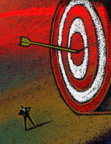 Aim Painting - Target by Leon Zernitsky