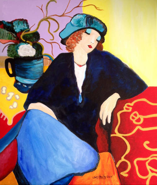 20s Wall Art - Painting - Tarkay Suzanne Study by Larry L Headley