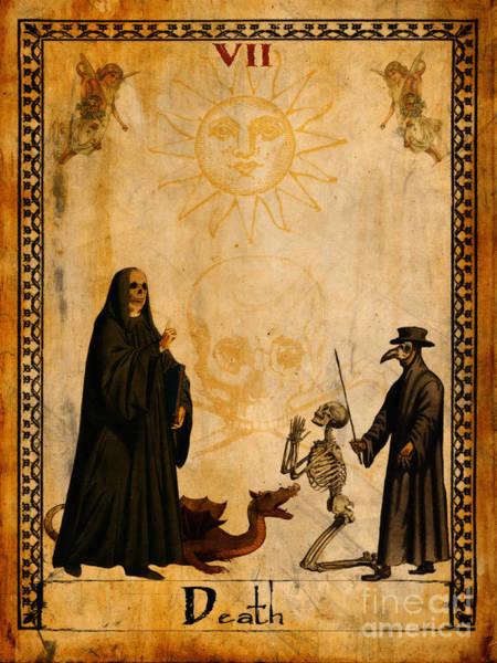 Wall Art - Painting - Tarot Card Death by Cinema Photography