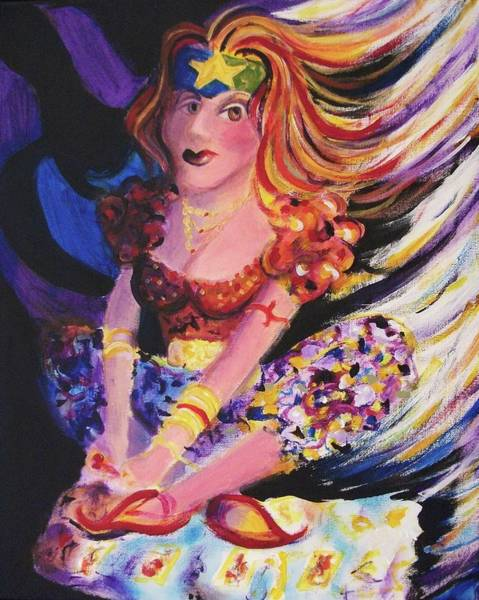 Leclair Painting - Tarot Card Reader by Suzanne  Marie Leclair