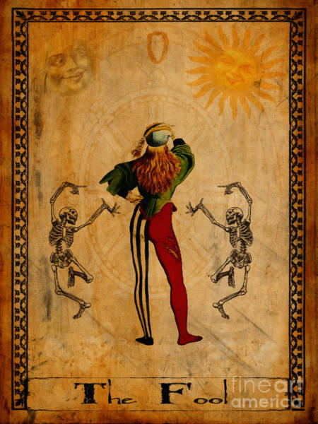Wall Art - Painting - Tarot Card The Fool by Cinema Photography