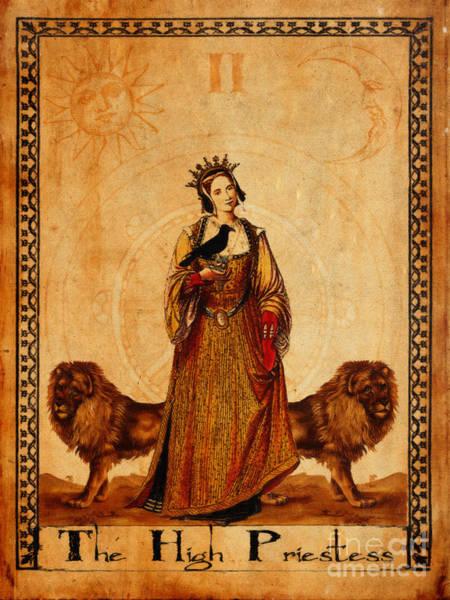 Wall Art - Painting - Tarot Card The High Priestess by Cinema Photography