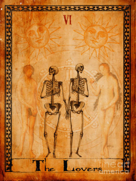 Wall Art - Painting - Tarot Card The Lovers by Cinema Photography