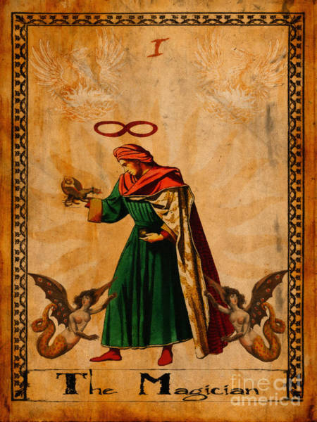 Wall Art - Painting - Tarot Card The Magician  by Cinema Photography