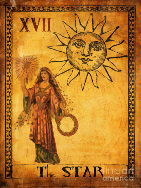 Wall Art - Painting - Tarot Card The Star by Cinema Photography