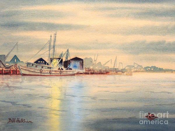 Sponge Painting - Tarpon Springs Sponge Docks by Bill Holkham