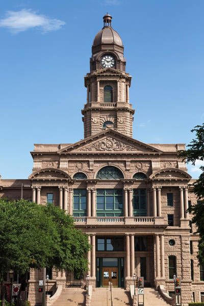 Fort Worth Photograph - Tarrant Courthouse, Fort Worth by P A Thompson