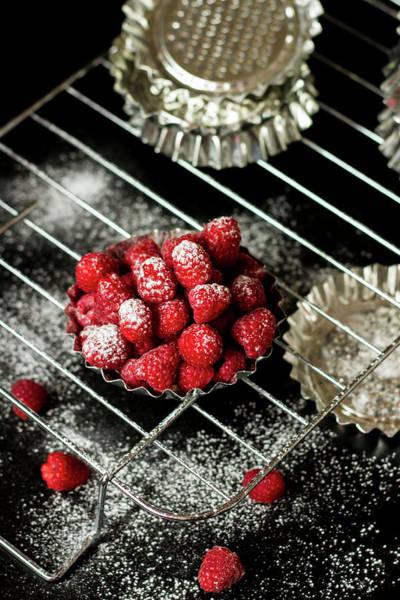 Food Photograph - Tartelette Raspberry by Renáta Dobránska