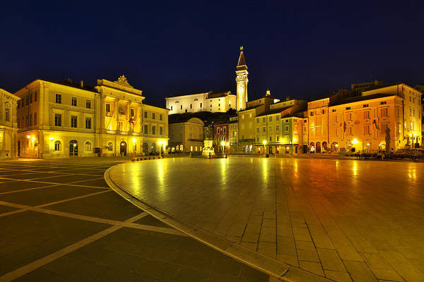 Photograph - Tartini Square Piran by Ivan Slosar