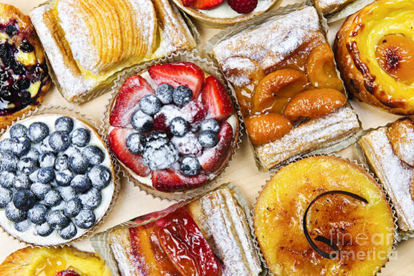 Glazed Wall Art - Photograph - Tarts And Pastries by Elena Elisseeva