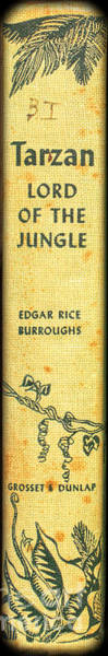 Book Shelf Photograph - Tarzan Lord Of The Jungle By Edgar Rice Burroughs by Edward Fielding