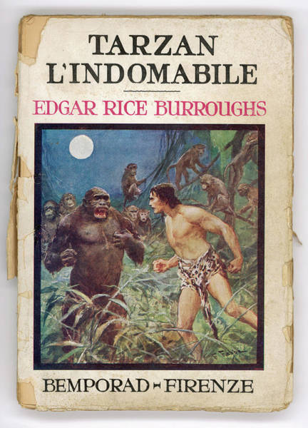 Wall Art - Drawing - Tarzan The Untamable by Mary Evans Picture Library