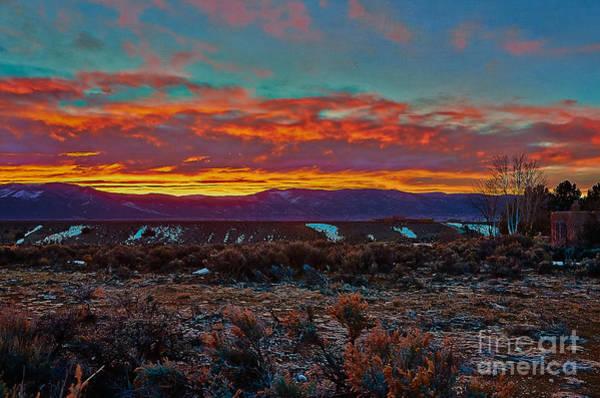 Taos Sunrise Art Print