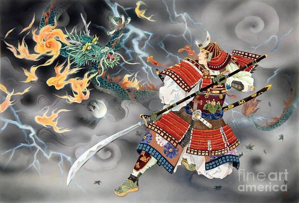 Japanese Art Digital Art - Tatakai by MGL Meiklejohn Graphics Licensing