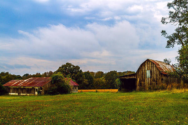 Painting - Tate Country Barns - Rural Landscape by Barry Jones