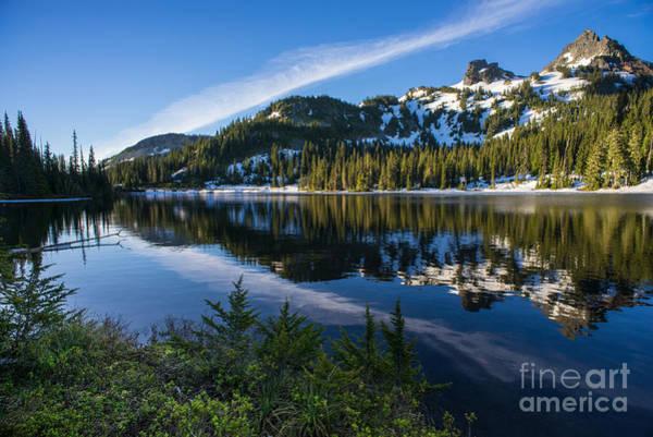 Alpine Photograph - Tatoosh Range Tranquil Sunrise by Mike Reid