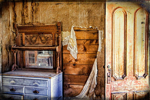 Bodie Ghost Town Wall Art - Photograph - Tattered Remains by Lana Trussell