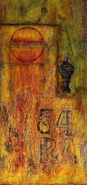 Oil Pastel Painting - Tattered Wall  by Bellesouth Studio