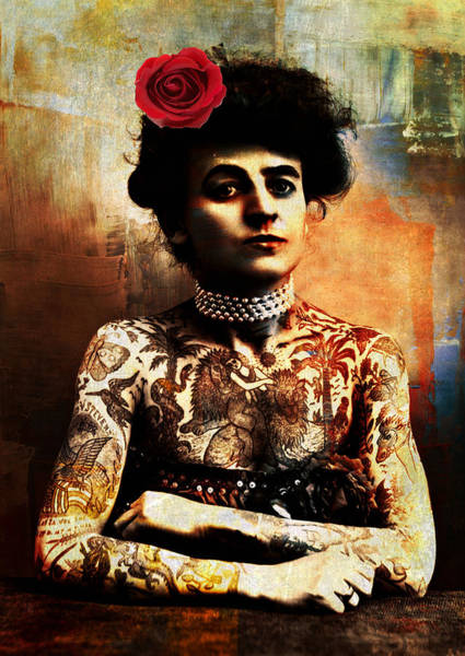Photograph - Tattoo Lady by Lora Mercado