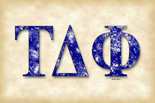 Wall Art - Digital Art - Tau Delta Phi - Parchment by Stephen Younts