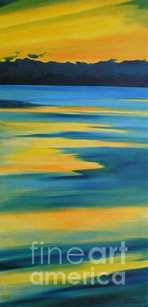 Painting - Taupo Sunset by Julia Blackler