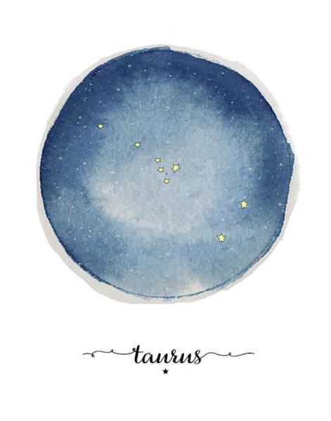 Zodiac Wall Art - Painting - Taurus Circle by Amy Cummings