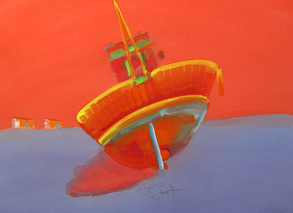 Painting - Tavira Fishing Boat by Charles Stuart