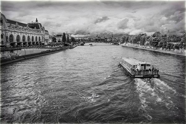 Reborn Wall Art - Photograph - Taxi Down The Seine by Georgia Fowler