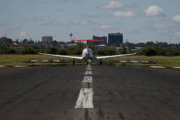 Kimberley Airport Photograph - Taxi by Paul Job