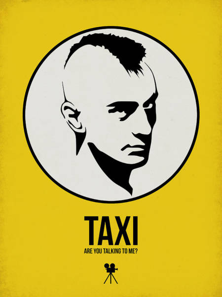 Wall Art - Digital Art - Taxi Poster 1 by Naxart Studio