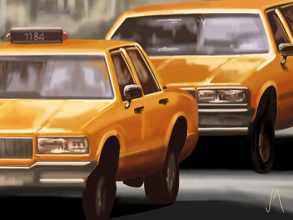 Taxi Painting - Taxi by Veronica Minozzi