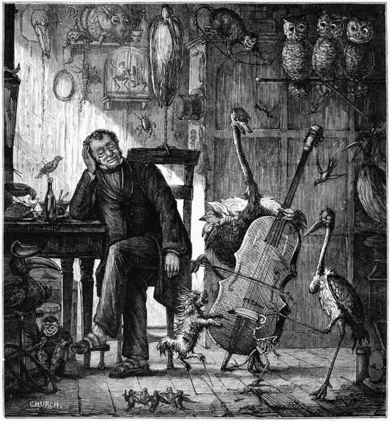 Cellist Painting - Taxidermist's Dream, 1874 by Granger