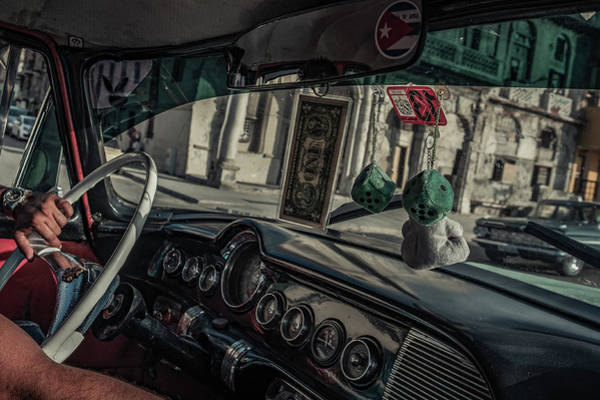 Classic Car Photograph - Taxidriver by Andreas Bauer