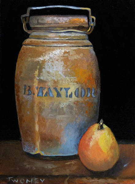Alla Prima Painting - Taylor Jug With Pear by Catherine Twomey