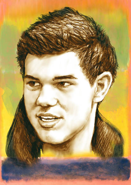 Twilight Drawing - Taylor Lautner - Stylised Drawing Art Poster by Kim Wang