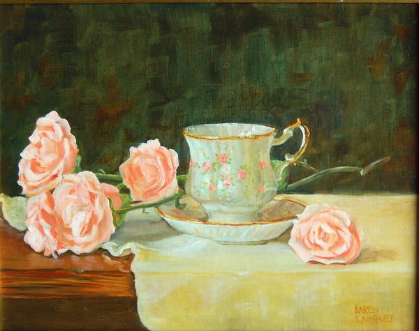 Tea And Roses Art Print