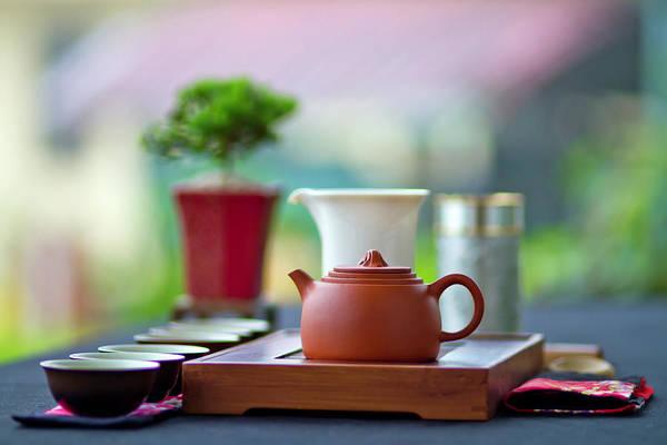 Tray Photograph - Tea Appreciation by Jung-pang Wu
