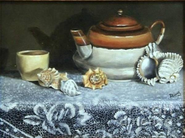 Wall Art - Painting - Tea At The Sea by Patricia Lang
