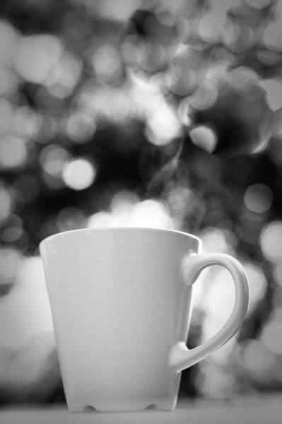 Sofia Photograph - Tea Cup In Bokeh Background by Anna Pekunova