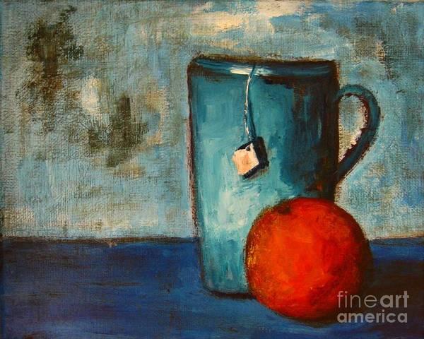 Painting - Tea Cup- Orange Tea by Patricia Awapara
