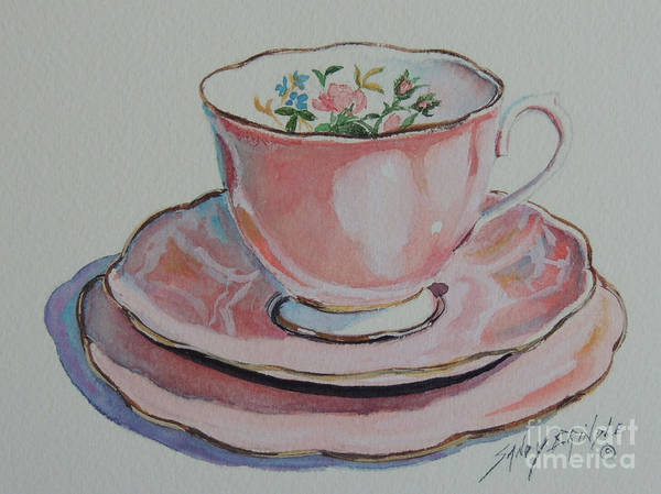 Painting - Tea For Me  Sold by Sandy Brindle